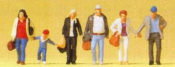 Preiser 88548 - Z Scale Walking Travellers