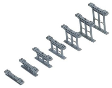 R658 Hornby, Set of 7 Inclined Piers
