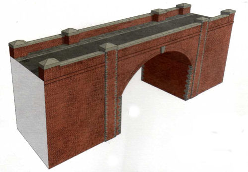 Superquick A14 - HO / OO Scales Red Brick Bridge/Tunnel Entrance