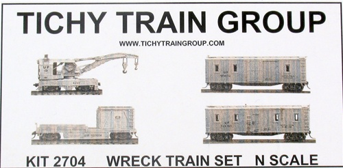 Titchy Train Group 2704 Wreck Train Set (kit)