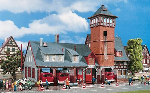 Vollmer 43767 Scale: 1:87, HO Five Bay Fire Station Kit