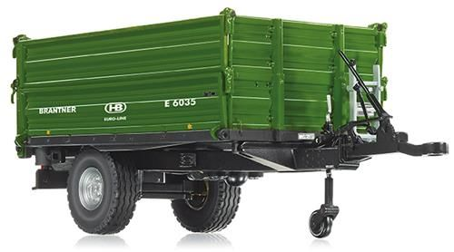 Wiking 077348 Brantner E 6035 Single Axle Threeside Tipper